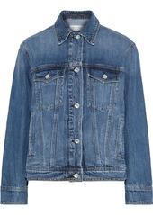 Rag & Bone Woman Classic Trucker Faded Denim Jacket Mid Denim