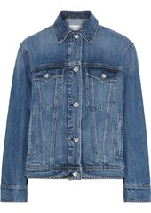 Rag & Bone Woman Classic Trucker Faded Denim Jacket Mid Denim