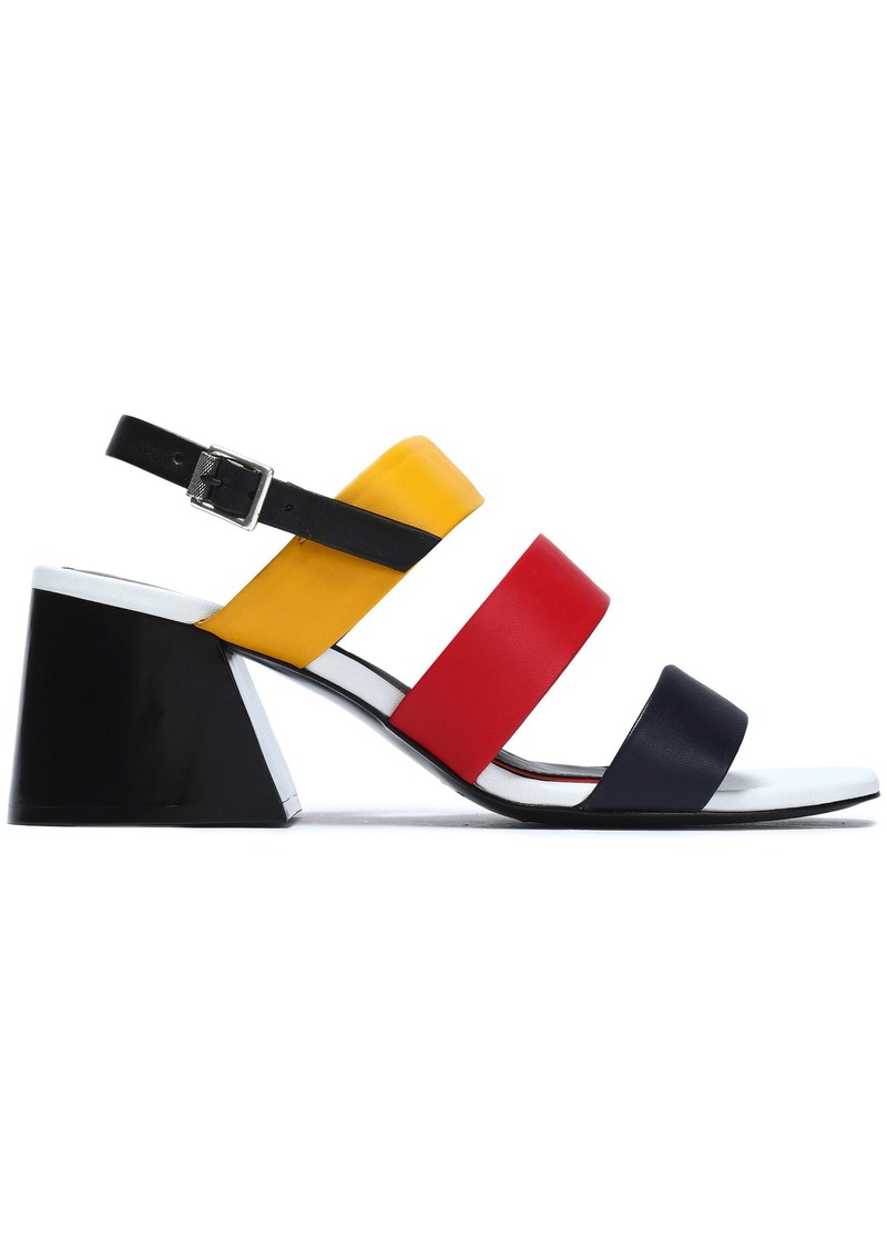 Rag & Bone Woman Color-block Leather Sandals Multicolor