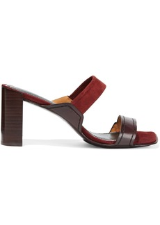 Rag & Bone Woman Colt Suede And Leather Sandals Burgundy