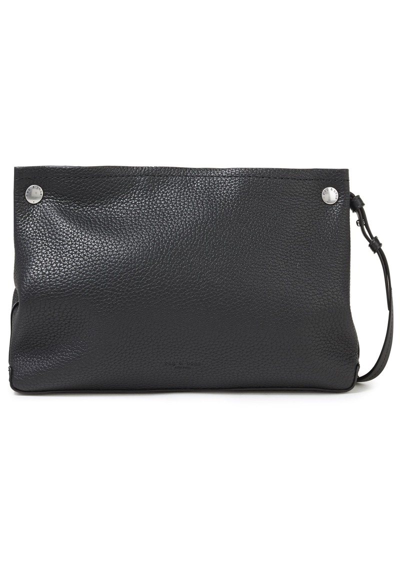 Rag & Bone Woman Compass Studded Pebbled-leather Shoulder Bag Black
