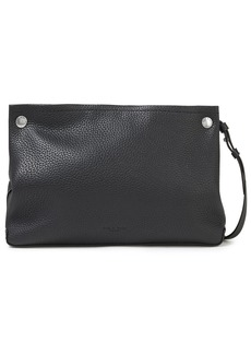 Rag & Bone Woman Compass Studded Pebbled-leather Shoulder Bag Black