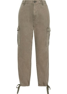 Rag & Bone Woman Cotton And Tencel-blend Twill Tapered Pants Sage Green