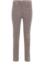 Rag & Bone Woman Cotton-blend Corduroy Skinny Jeans Mushroom