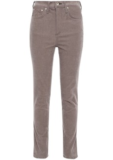 Rag & Bone Woman Cotton-blend Corduroy Skinny Jeans Mushroom