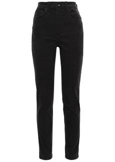 Rag & Bone Woman Cotton-blend Corduroy Slim-leg Pants Charcoal