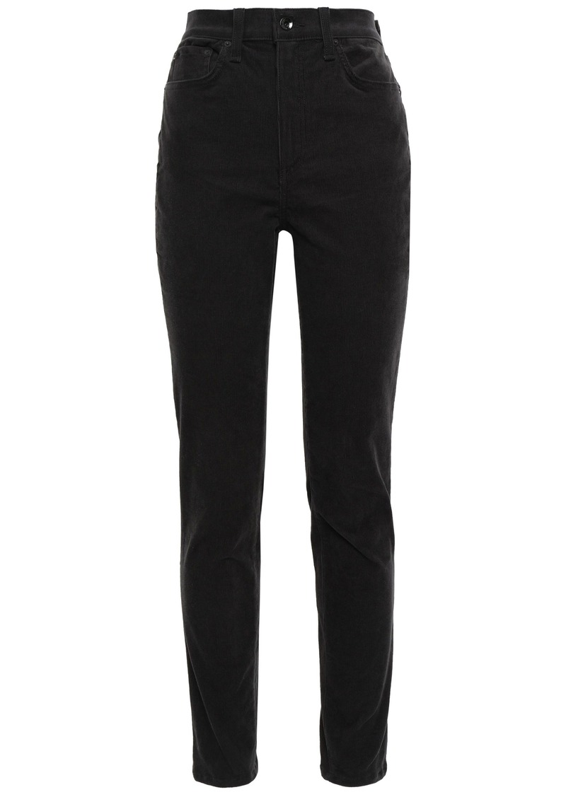 Rag & Bone Woman Cotton-blend Corduroy Slim-leg Pants Charcoal