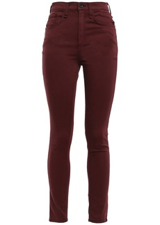 Rag & Bone Woman Cotton-blend High-rise Skinny Pants Merlot