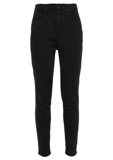Rag & Bone Woman Cotton-blend Sateen Skinny Pants Black