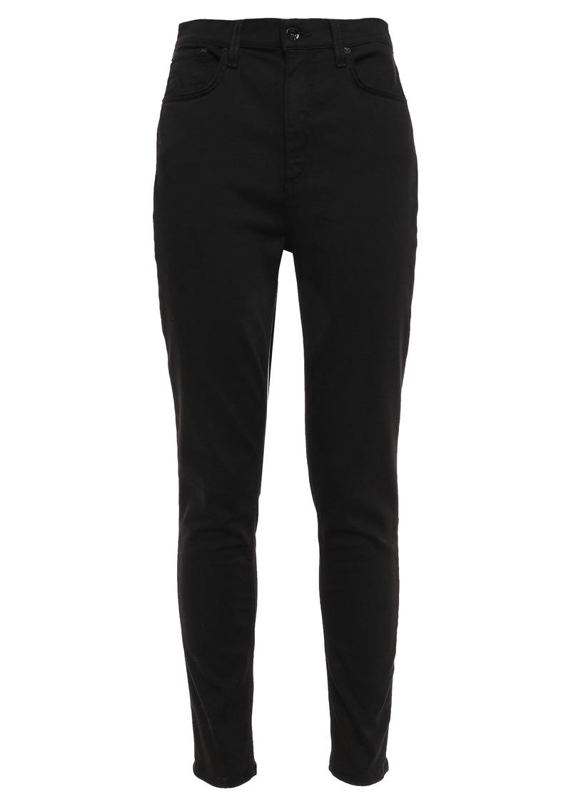 Rag & Bone Woman Cotton-blend Sateen Skinny Pants Black