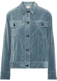 Rag & Bone Woman Cotton-velvet Jacket Storm Blue