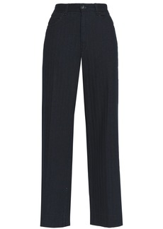 Rag & Bone Woman Cotton Wide-leg Pants Indigo