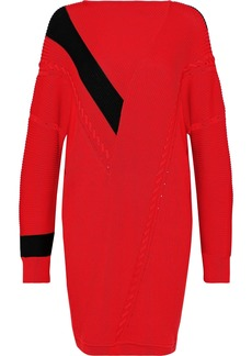 Rag & Bone Woman Cricket Oversized Ribbed Cotton Mini Dress Red