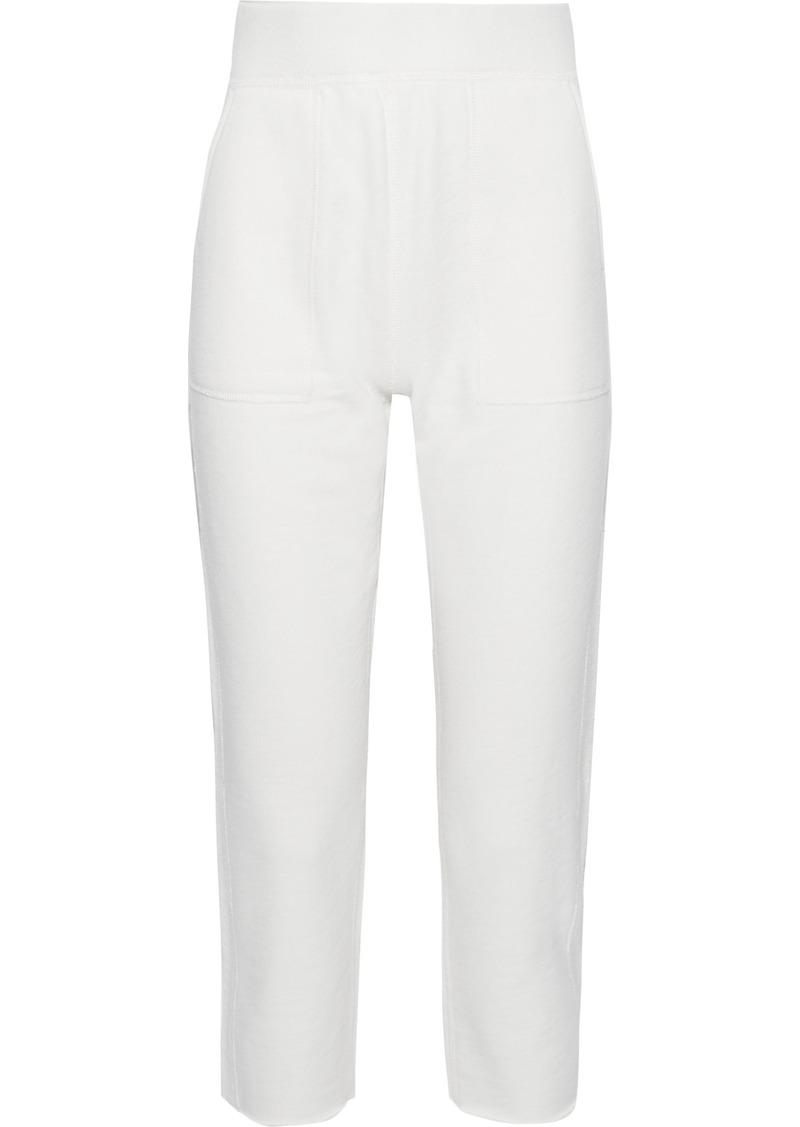 Rag & Bone Woman Cropped French Cotton-terry Straight-leg Pants Ivory