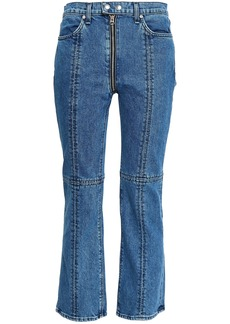 Rag & Bone Woman Cropped High-rise Bootcut Jeans Mid Denim