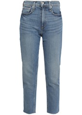 Rag & Bone Woman Cropped High-rise Slim-leg Jeans Mid Denim