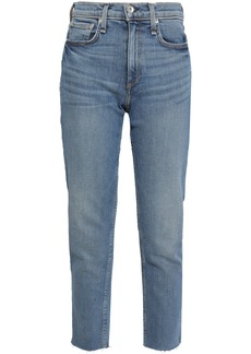 Rag & Bone Woman Cropped High-rise Slim-leg Jeans Mid Denim