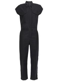 Rag & Bone Woman Cropped Poplin Jumpsuit Black