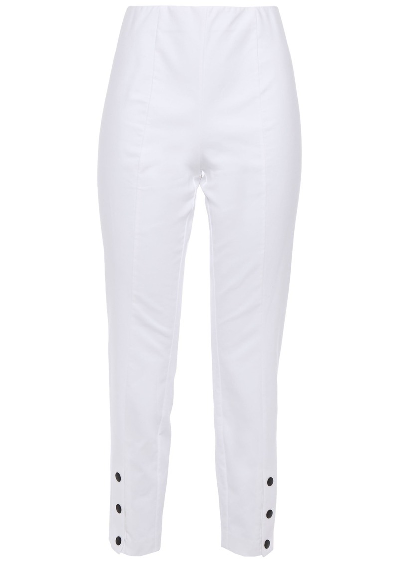Rag & Bone Woman Cropped Stretch-cotton Slim-leg Pants White
