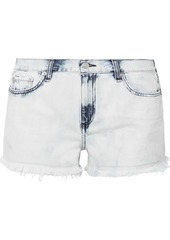 Rag & Bone Woman Cut Off Distressed Bleached Denim Shorts Light Denim