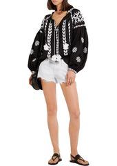 Rag & Bone Woman Cut Off Frayed Denim Shorts White