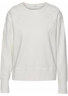 Rag & Bone Woman Cutout Embroidered French Cotton-terry Sweatshirt White