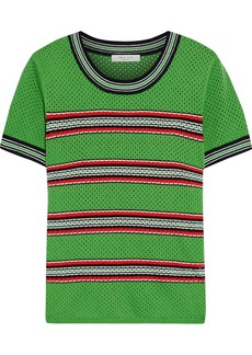 Rag & Bone Woman Darcie Striped Open-knit Top Green
