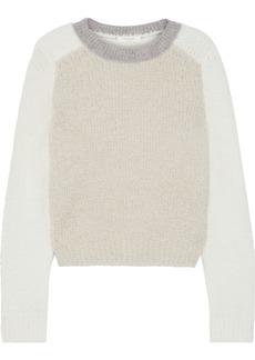 Rag & Bone Woman Davis Color-block Bouclé-knit Merino Wool-blend Sweater Ecru