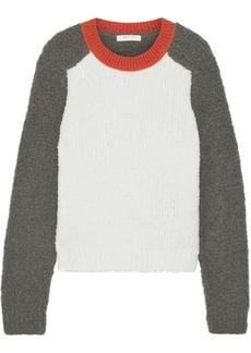 Rag & Bone Woman Davis Color-block Bouclé-knit Merino Wool-blend Sweater Ivory