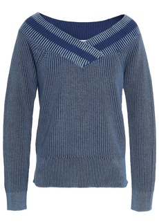 Rag & Bone Woman Dawn Ribbed Cotton Sweater Cobalt Blue