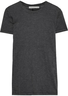 Rag & Bone Woman Dawson Metallic Jersey T-shirt Black