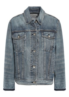 Rag & Bone Woman Denim Jacket Mid Denim