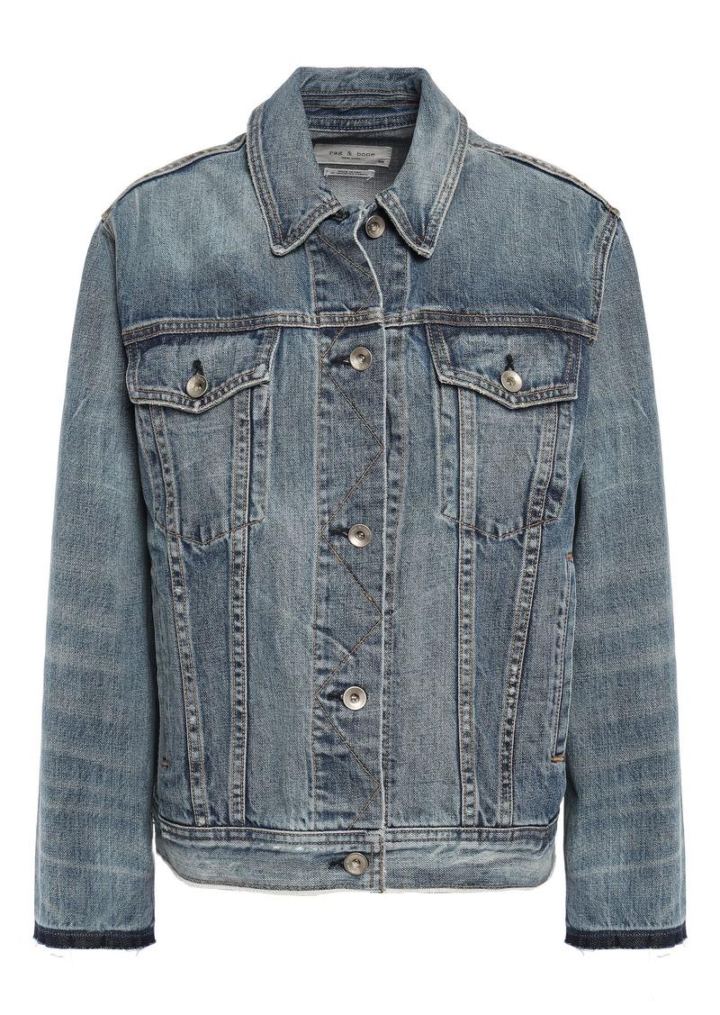 Rag & Bone Woman Denim Jacket Mid Denim