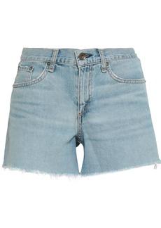Rag & Bone Woman Denim Shorts Light Denim
