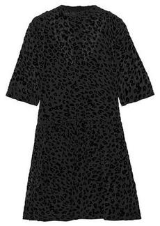 Rag & Bone Woman Devoré Silk-blend Chiffon Mini Dress Black