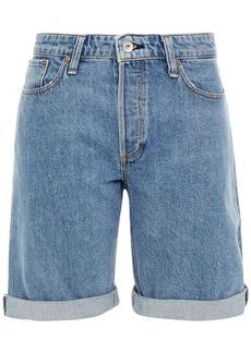 Rag & Bone Woman Distressed Denim Shorts Light Denim