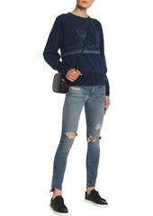 Rag & Bone Woman Distressed Mid-rise Skinny Jeans Mid Denim