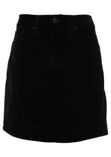 Rag & Bone Woman Dive Cotton-velvet Mini Skirt Black