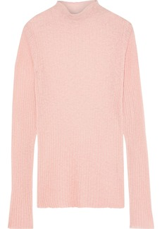 Rag & Bone Woman Donna Ribbed Mohair-blend Sweater Pastel Pink