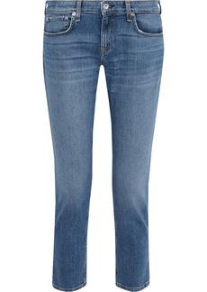 Rag & Bone Woman Dre Cropped Slim Boyfriend Jeans Mid Denim