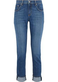 Rag & Bone Woman Dre Faded Mid-rise Slim-leg Jeans Mid Denim