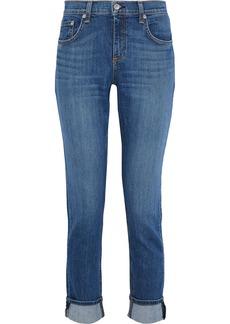 Rag & Bone Woman Dre Faded Mid-rise Slim-leg Jeans Mid Denim