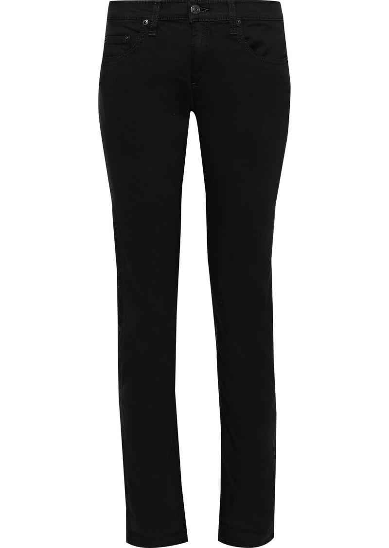 Rag & Bone Woman Dre Low-rise Skinny Jeans Black