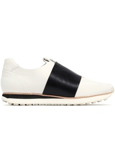 Rag & Bone Woman Dylan Strap-detailed Leather Slip-on Sneakers Off-white