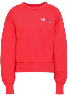 Rag & Bone Woman Embroidered French Cotton-terry Sweatshirt Red
