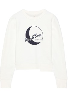Rag & Bone Woman Embroidered French Cotton-terry Sweatshirt White