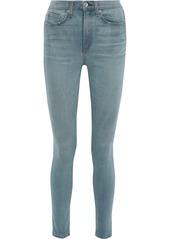 Rag & Bone Woman Faded High-rise Skinny Jeans Light Denim
