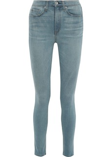 Rag & Bone Woman Faded High-rise Skinny Jeans Light Denim