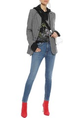Rag & Bone Woman Faded High-rise Skinny Jeans Mid Denim
