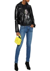 Rag & Bone Woman Faded Low-rise Skinny Jeans Mid Denim